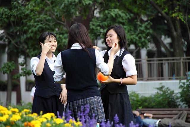 Girls meeting.