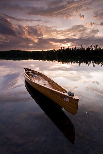 Canoe and Sunset