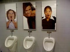 ooooh (Luccca) Tags: girls bathroom photo women funny europe looking sweden decoration peeing trollhttan urinoir verby