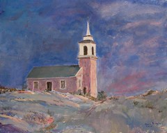 Star Island chapel - painting (Pilgrim on this road - Bill Revill) Tags: painting island acrylic chapel isleofshoals starisland revill billrevill