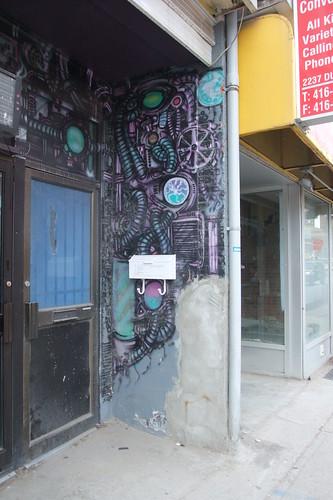cyberpunk mural