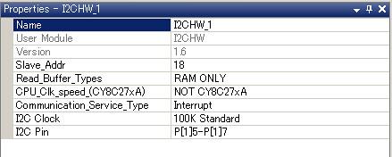 I2C slave I2CHW module setting