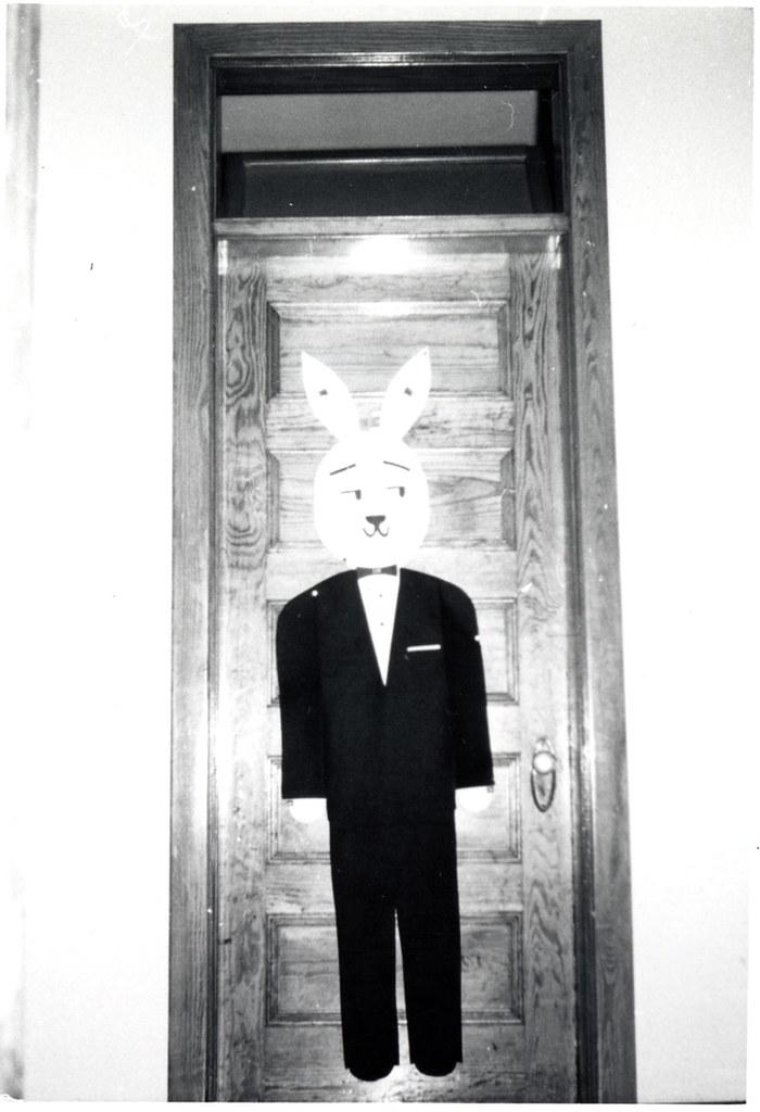 1961 Bunny on a Dorm Door