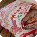 Making a pink quilt