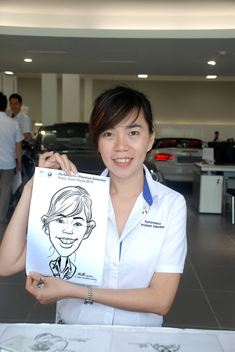 Caricature live sketching for Performance Premium Selection BMW - Day 3 - 1