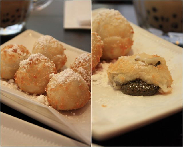 Fried Black Sesame Sticky Rice Dumplings