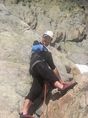 First Pitch, Contreforts (andywalker1) Tags: france alps climbing disabled rockclimbing chamonix andrewwalker handicapped amputee andywalker onearmed lindex aiguillesrouges contreforts climbingonearmed omearmedclimbing disabledclimbing disabledrockclimbing