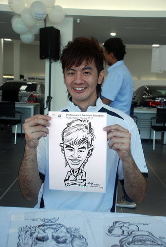 Caricature live sketching for Performance Premium Selection BMW - Day 2 - 10