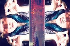 43. (SandieLopez) Tags: blue portrait verde green film azul hair guatemala autoretrato roll 365 selfpotrait sandie cabello rollo 502
