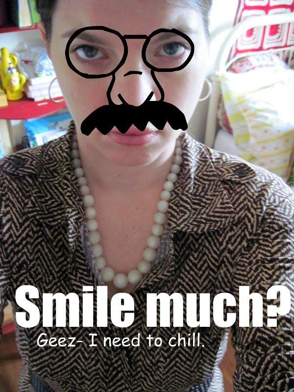 Smile much?