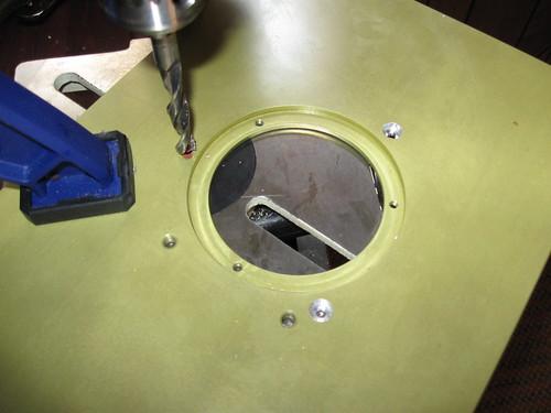 Recessing screw holes