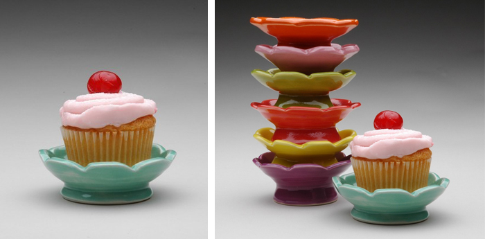 Cupcake Plates by Michelle Miller available from cakespy