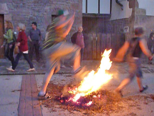 Midsummer fire-jumping in Arizkun