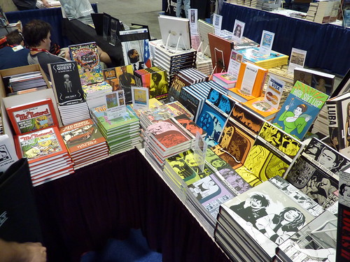 Fantagraphics booth (#1718) at Comic-Con 2010, San Diego