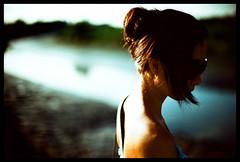 You (Lefty Jor) Tags: shadow hk sunlight film girl face sunglasses hair hongkong xpro day dof kodak bokeh crossprocess slide elitechrome expired shoulder misu f3hp 50mmf12