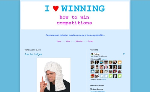 I LOVE WINNING Blog