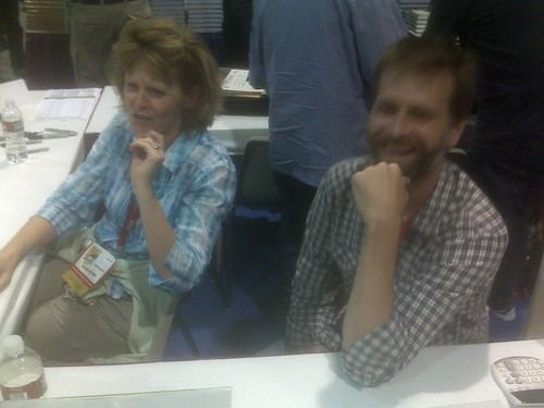Carol Tyler & Eric Reynolds at Fantagraphics, Comic-Con 2010