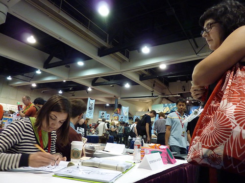 Esther Pearl Watson at Fantagraphics, Comic-Con 2010