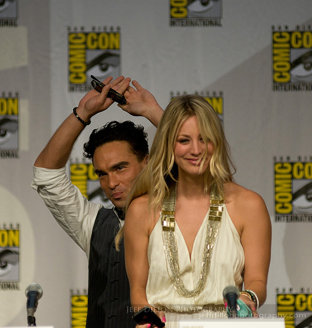 Comic-Con 2010 Johnny Galecki y Kaley Cuoco