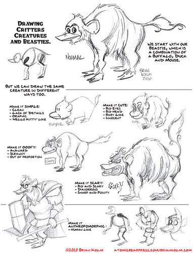 notes on variation from the Critters, Creatures and Beasties class