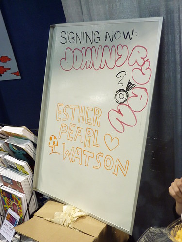 Johnny Ryan & Esther Pearl Watson signed in - Fantagraphics at Comic-Con 2010