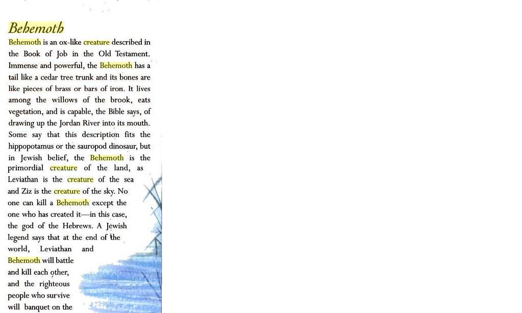 البهيموث واللوياثان الكتاب المقدس...خرافة كبيرة حقيقة واضحة