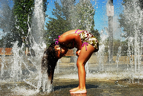 Water fountain goddess