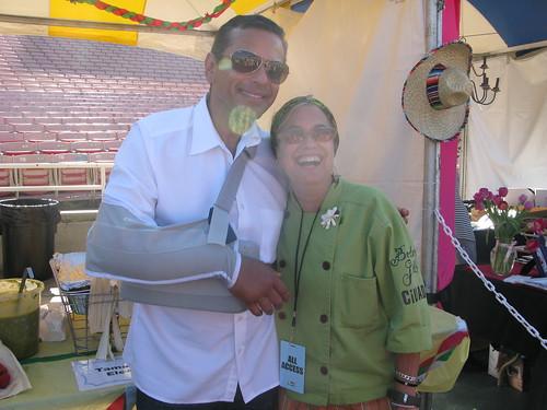 Mayor Villaraigosa and Susan Feniger by Caroline on Crack