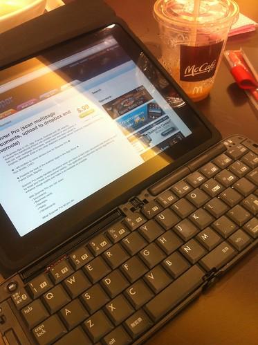 iPad+BT Keyboard @ Mcdonald