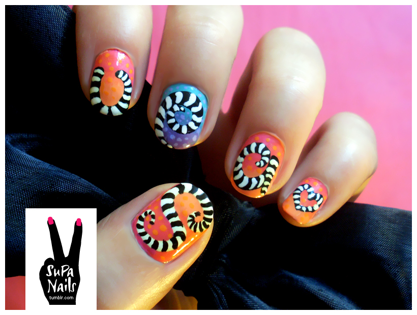 supa nails colorful gold - photo #26