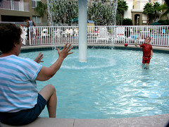 Aunt Sugar -- Here It Comes (Gem Images) Tags: family water pool us orlando florida nathaniel sheryl vacationvillage