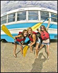 Ready For Whitewater (Mark Payton Photography) Tags: girls canon eos montana fisheye rafting 1ds paddles canonef15mmf28fisheye markpayton missoulaphotographer lewisclarktrailadventures markpaytonphotography