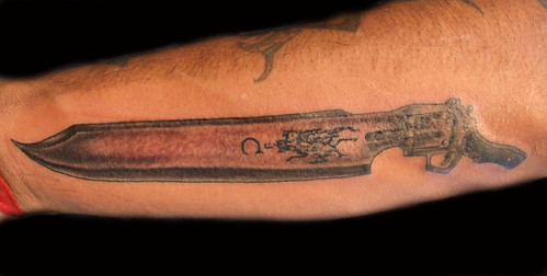 knife tattoo. VIII Gun/Knife Tattoo