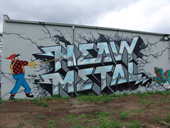Paul Bunyan Heavy Metal (Light The Underground) Tags: minnesota graffiti mural heavymetal hm paulbunyan mn bombshelter lighttheunderground