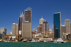 Sydney { Explore } (pantha29) Tags: ocean sea building water skyscraper boat harbour sydney australia olympus explore zuiko e510 1260mm