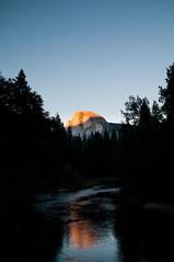 (N22YF) Tags: sunset mountain reflection river nationalpark yosemite halfdome sigma1770mmf2845dcmacro sentinalbridge