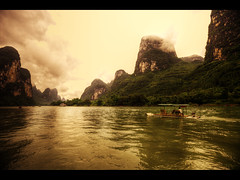 Yangdi, China (Kaj Bjurman) Tags: china river landscape eos rafting 5d hdr kaj markii yangdi bjurman