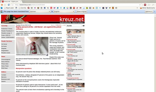 Screenshot-kreuz.net - Eighty percent of the - old liberal - are against the priest celibacy - Google Chrome