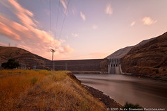 Brownlee Dam, Cambridge, ID (www.alexsommersphotography.com) Tags: cambridge summer bw cloud reflection water 30 canon eos dam id 110 idaho filter 7d nd electricity usm powerplant dslr efs clounds movements 1022 density topaz neutral 77mm neutraldensityfilter cs5 10stop f354 brownleedam wwwalexsommersphotographycom
