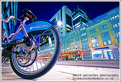 London Fast Bike  - Barclays Cycle Hire at Night (david gutierrez [ www.davidgutierrez.co.uk ]) Tags: road street city uk longexposure greatbritain travel blue light england urban color colour green london art colors beautiful bike bicycle modern night speed wonderful spectacular photography lights cycling photo amazing fantastic europe cityscape publictransportation nightshot superb unitedkingdom sony awesome capital transport perspective arts scenic picture cities fast wideangle journey cycle transportation nights bluehour colourful alpha publictransport picturesque metropolitan impressive hire barclays publicservice municipality pushbike sonyalpha saariysqualitypictures transportforlondontfl barclayscyclehire barclayscyclehirescheme hireabikescheme borisbikescheme sony350dslra350 letusgocycling