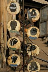 Hairdresser in Benin (Karin.Lakeman) Tags: africa sign hair advertising reclame drawing african drawings hairdresser afrika benin language taal bord afrikaans kapsel tekeningen tekening haar kapper bordje getekend afrikaanse