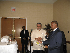 President Rawlings and Emeka Chiakwelu