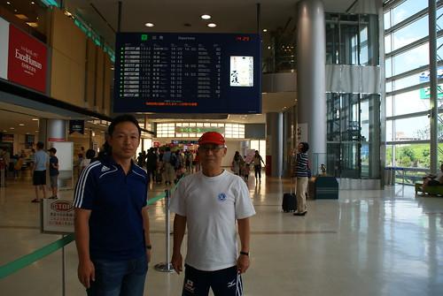 楠本さんと福岡空港にて