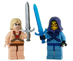 He-Man and Skeletor Custom Minifigures (miniBIGS) Tags: lego cartoon 80s minifig custom heman skeletor minifigure