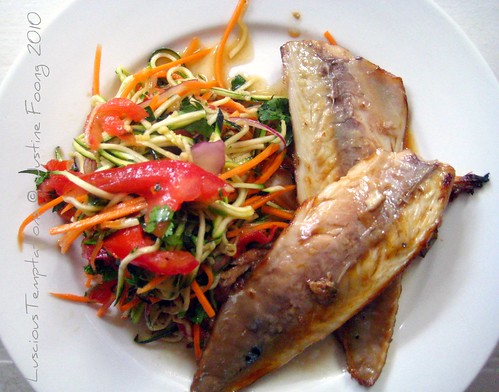 Grilled Mackerel with Salad - Weekend Dinner