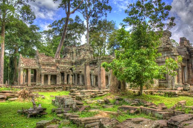 Angkor Wat Cross Ruins HDR