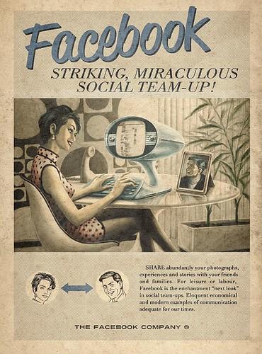 Facebook en 1950