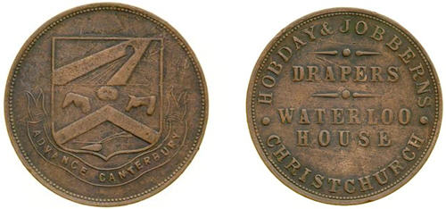 Undated One Penny Token of Hobday Jobberns