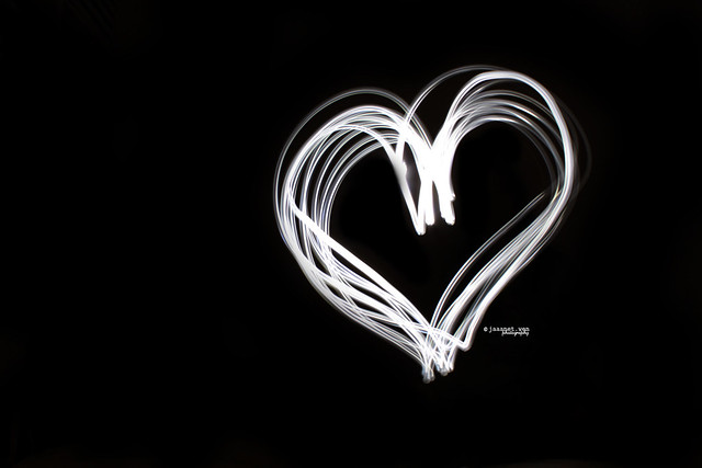 Light Painting Heart (SOOC) [Explored FP]
