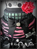 Fashionista Cake (Kara's Custom Cakes) Tags: pink white black flower mannequin sexandthecity fabric 18thbirthday fashionista bows zebrastripes fantasyflower gumpasteshoe fashionmannequin fashioncake fondantpearls sexandthecitycake gumpastestiletto